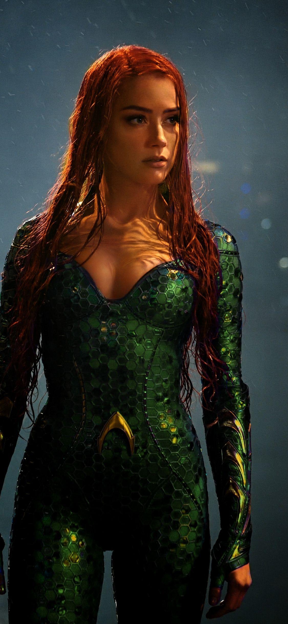 Movie Aquaman Amber Heard Mera 1125x2436 wallpaper Mera 1125x2436
