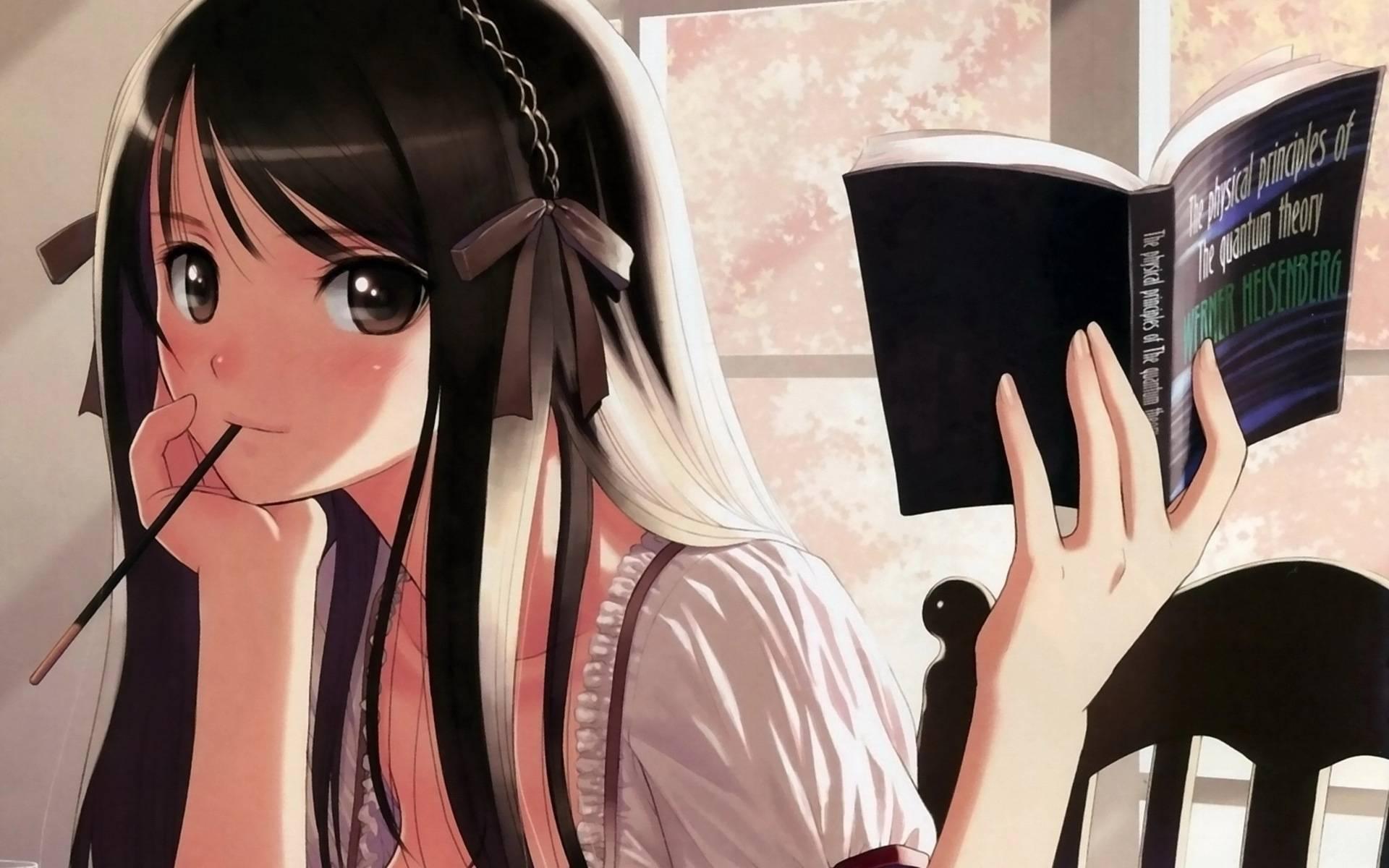 anime anime manga images pictures anime girl studying wallpaper tweet 1920x1200