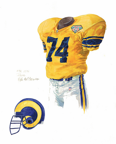 Los Angeles Rams Uniforms for Pinterest 403x500