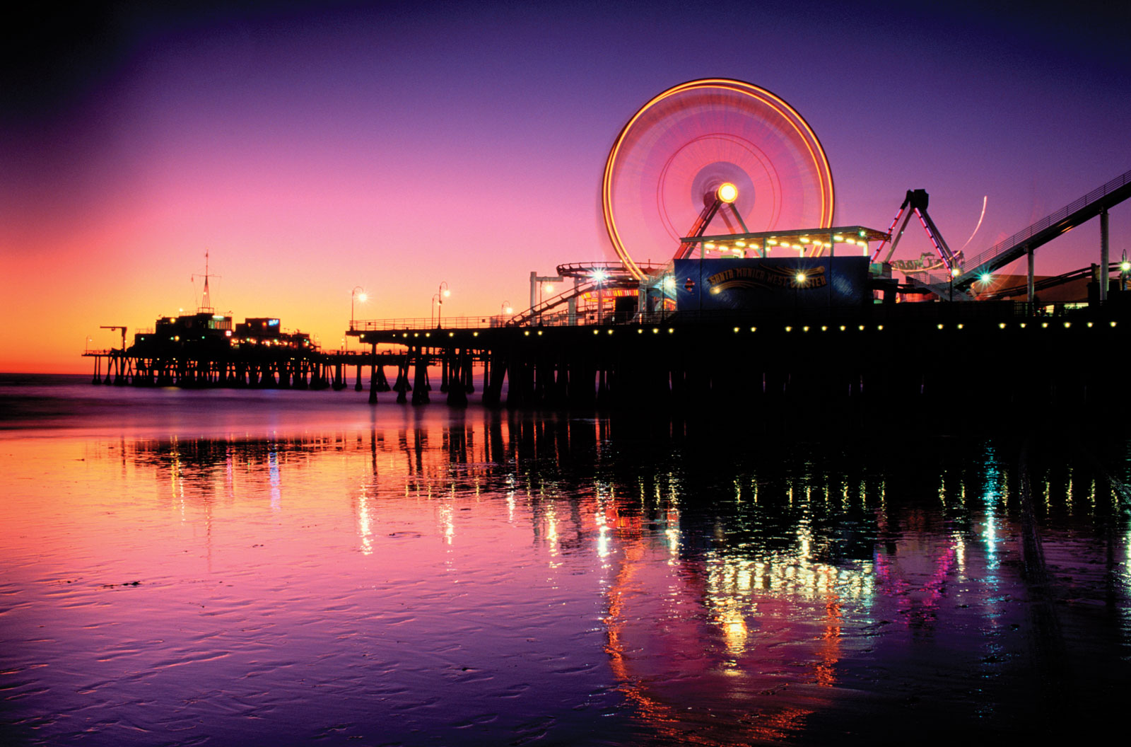 Santa Monica background Beaches wallpapers 1600x1056