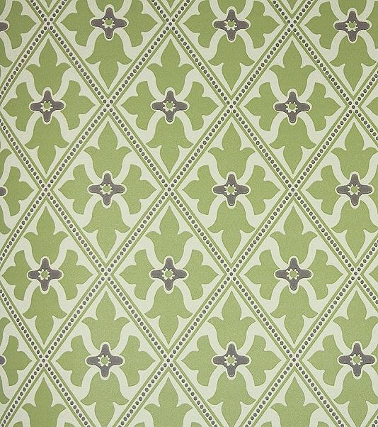 Green Trellis Wallpaper Bayham Abbey Wallcovering English Heritage 534x602