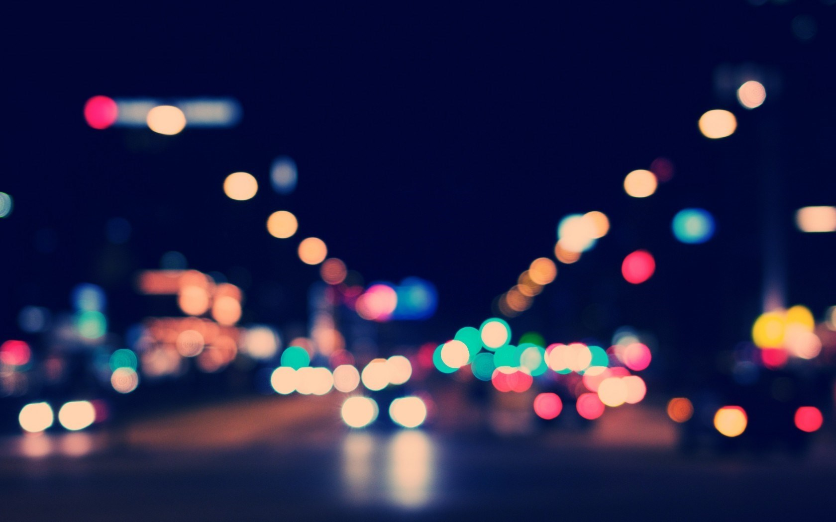 City Street Night Wallpaper