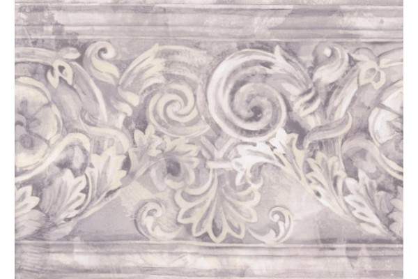 Home Grey White Stone Column Molding Wallpaper Border 600x400