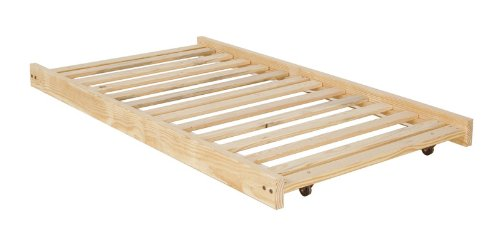 Trundle Bed Frame Unfinished Wood Hidden Under The Bed Toy Storage 500x235