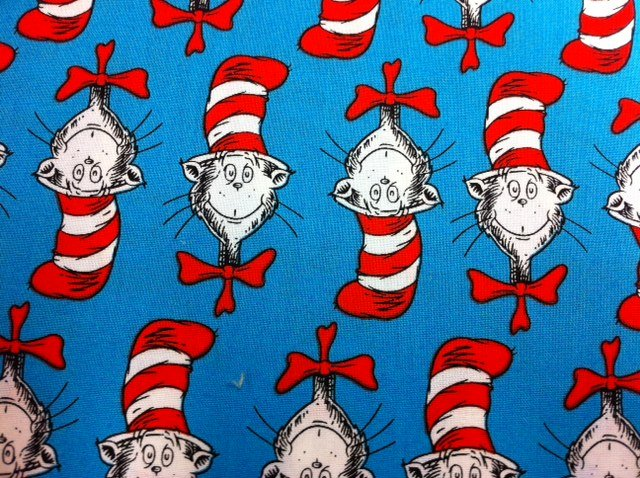 Dr Seuss Cat in the Hat Head Red and White Hat Cotton 640x478