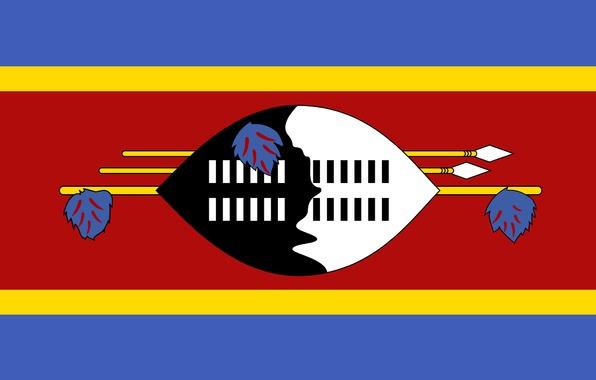 Wallpaper swaziland flag design colors wallpapers minimalism 596x380
