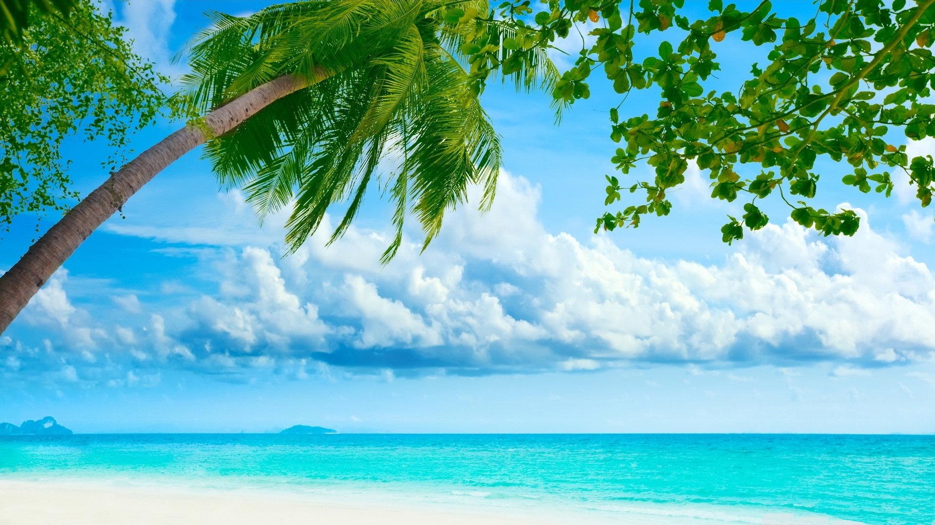 Tropical Island Desktop Wallpaper - 1920x1080
