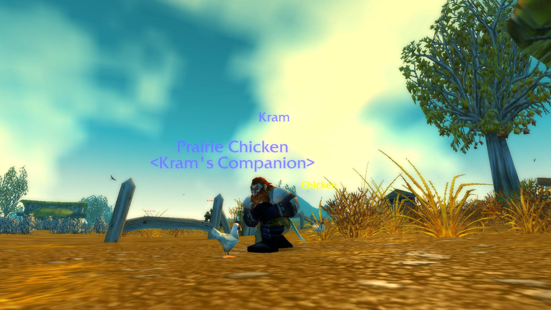 good to have the ol secret Westfall chicken pet again classicwow 1920x1080