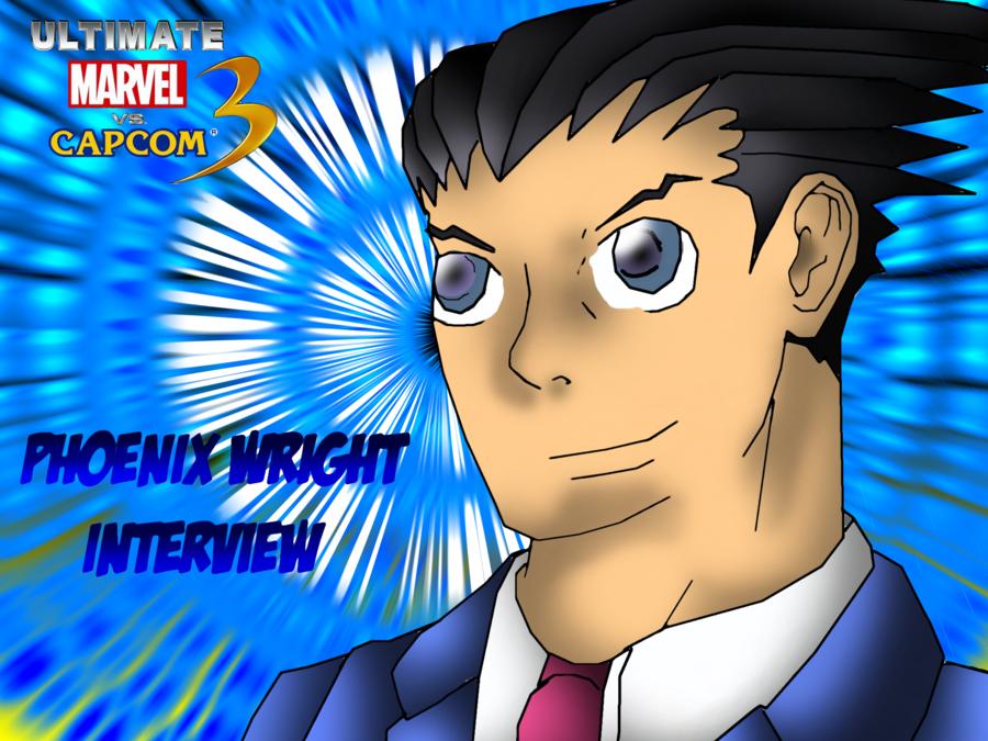 Phoenix Wright interview wallpaper by CrossoverGamer 900x675