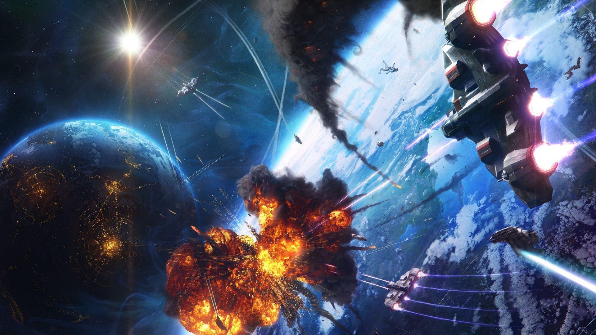 Space Battle Wallpaper - WallpaperSafari