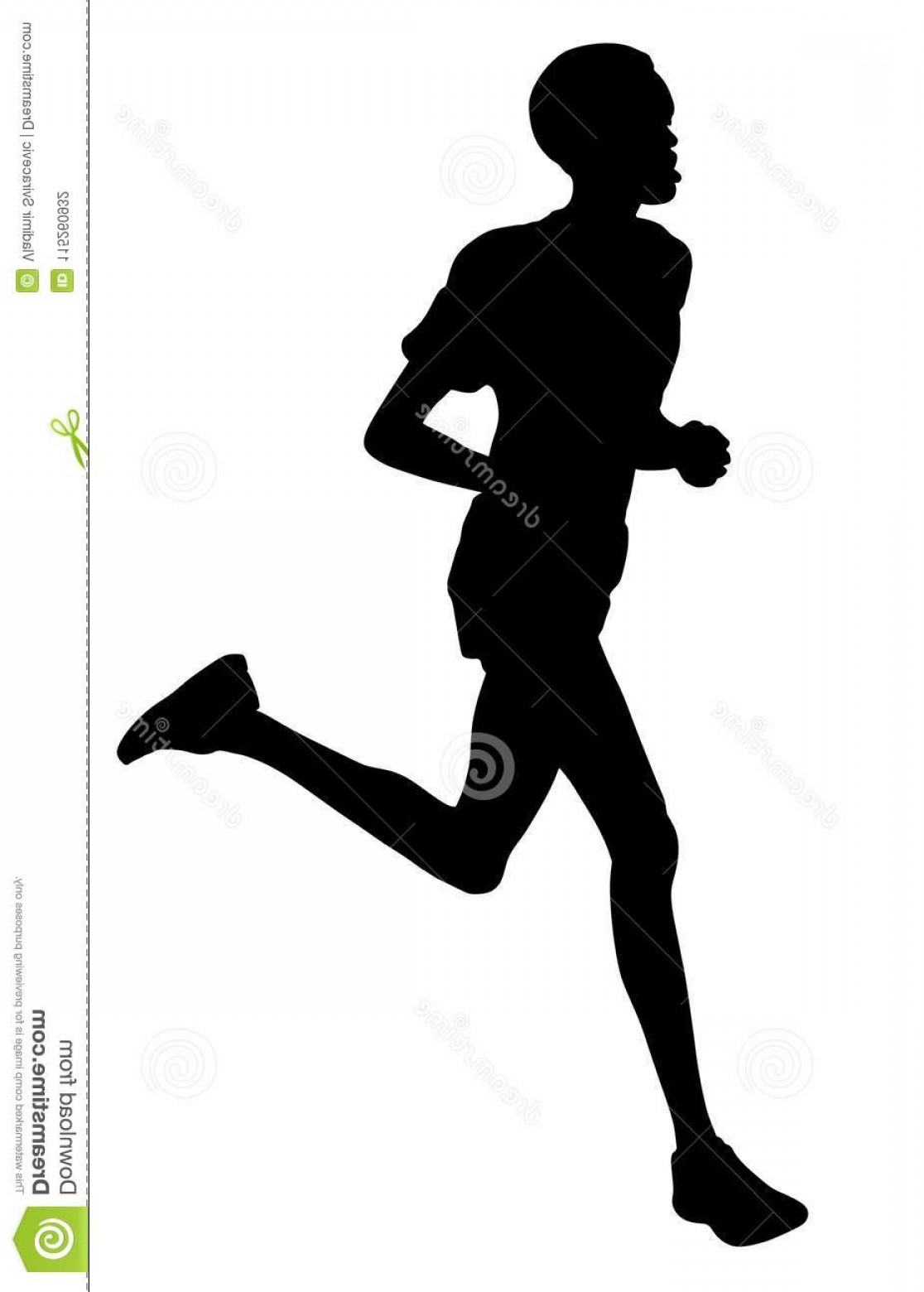 Sportsman Running Vector Silhouettes Isolated White Background 1116x1560