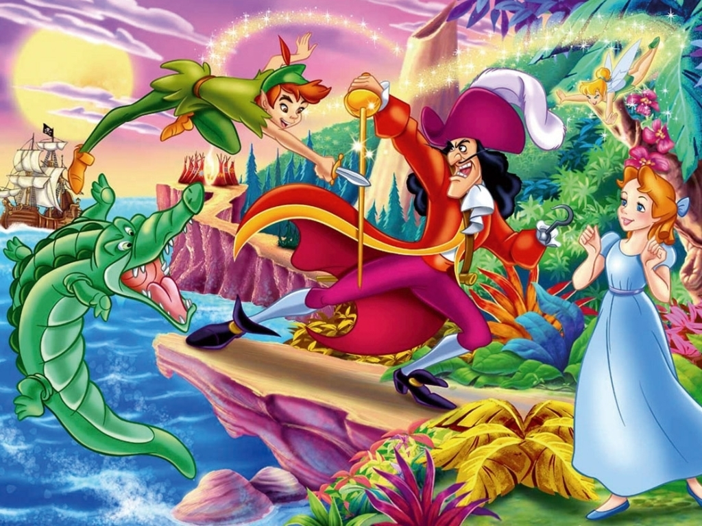 Peter Pan Wallpaper   Classic Disney Wallpaper 7089869 1024x768
