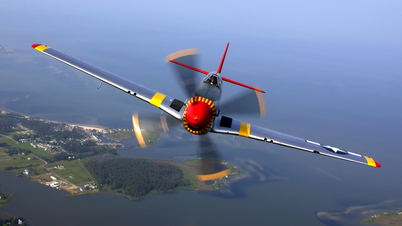wallpapers P 51 mustang aircraft aviation photo on the desktop 1366x768