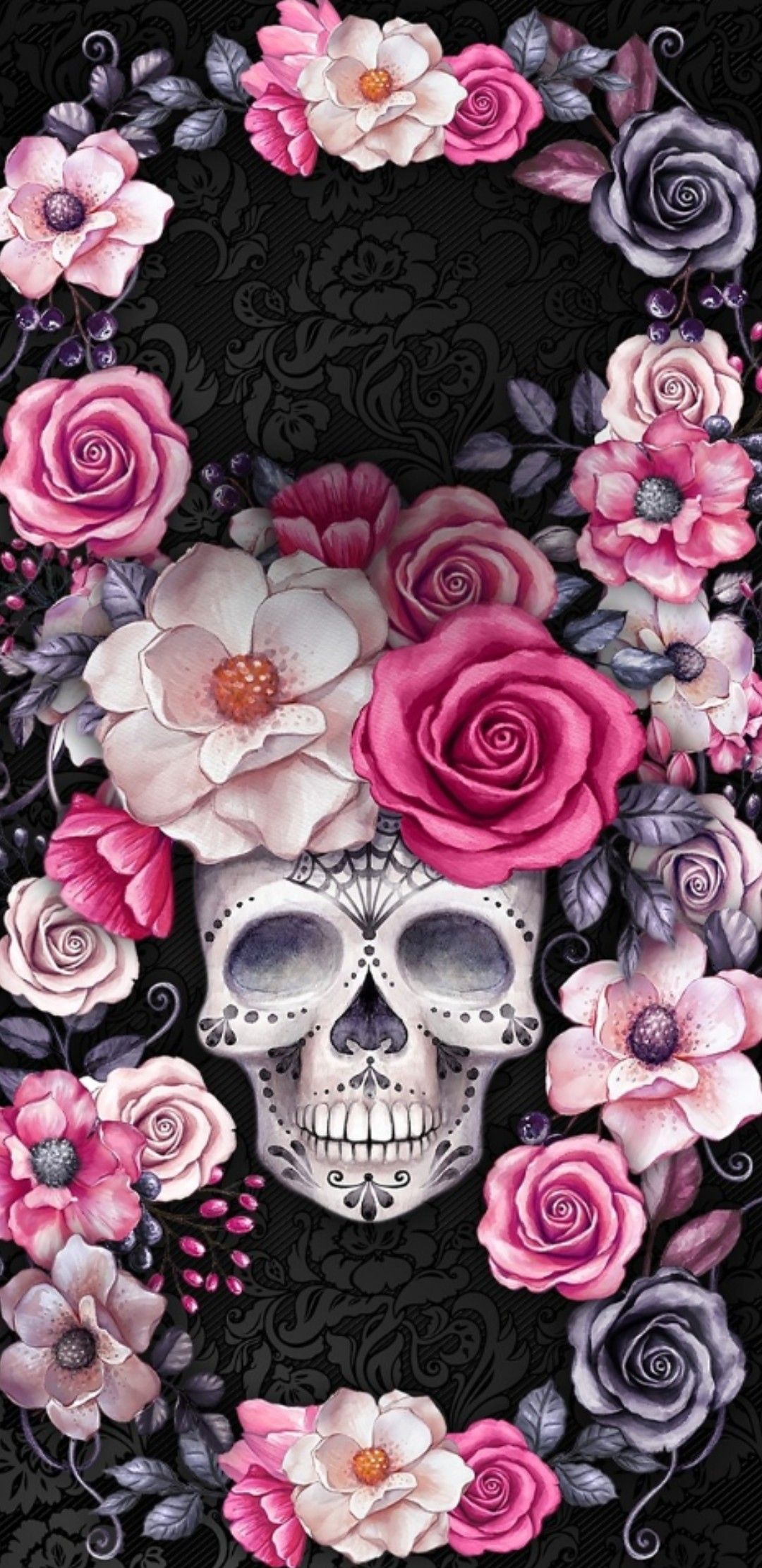 Free Download Noviembre Wallpapers Skull Wallpaper Iphone Sugar
