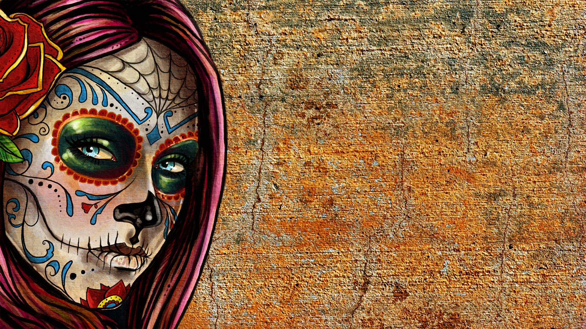 Go Back Images For Sugar Skull Wallpaper For Home 1920x1080
