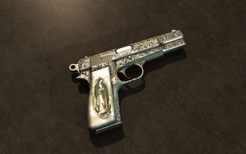 Gun Picture For iPhone Blackberry iPad Maria 9mm Gun Screensaver 500x313