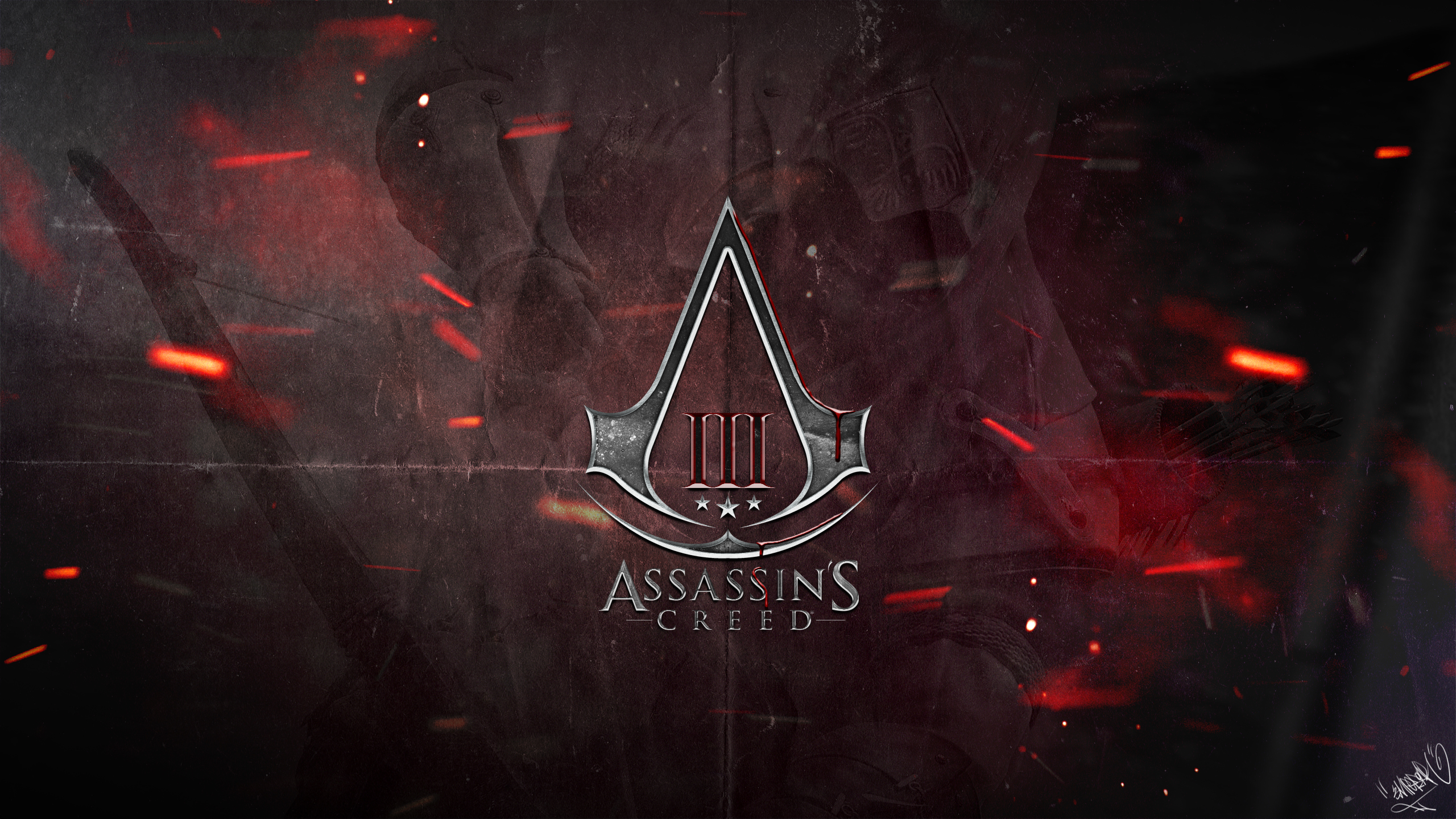 Assassins Creed 3   Logo Wallpaper by emperaa on deviantART 2560x1440