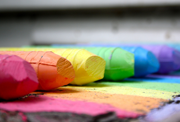 Wallpaper colors rainbow chalk desktop wallpaper Other GoodWP 590x400