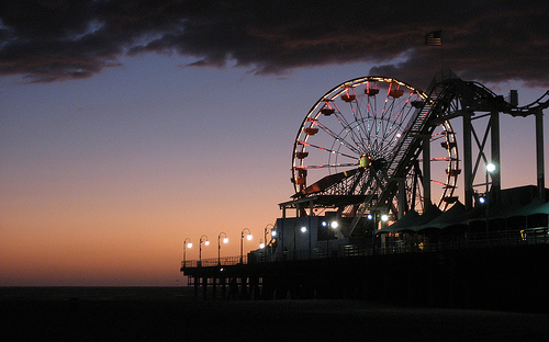 Wallpaper Renditions   Santa Monica Pier in the Evening by Andrionni 500x312