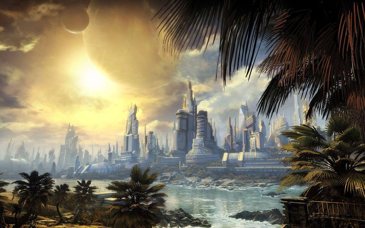 Sci fi cityscape wallpaper 18907 1280x800