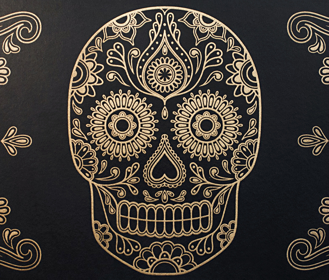 Day Of The Dead Sugar Skull Wallpaper IAMFATTERTHANYOUCOM 647x550