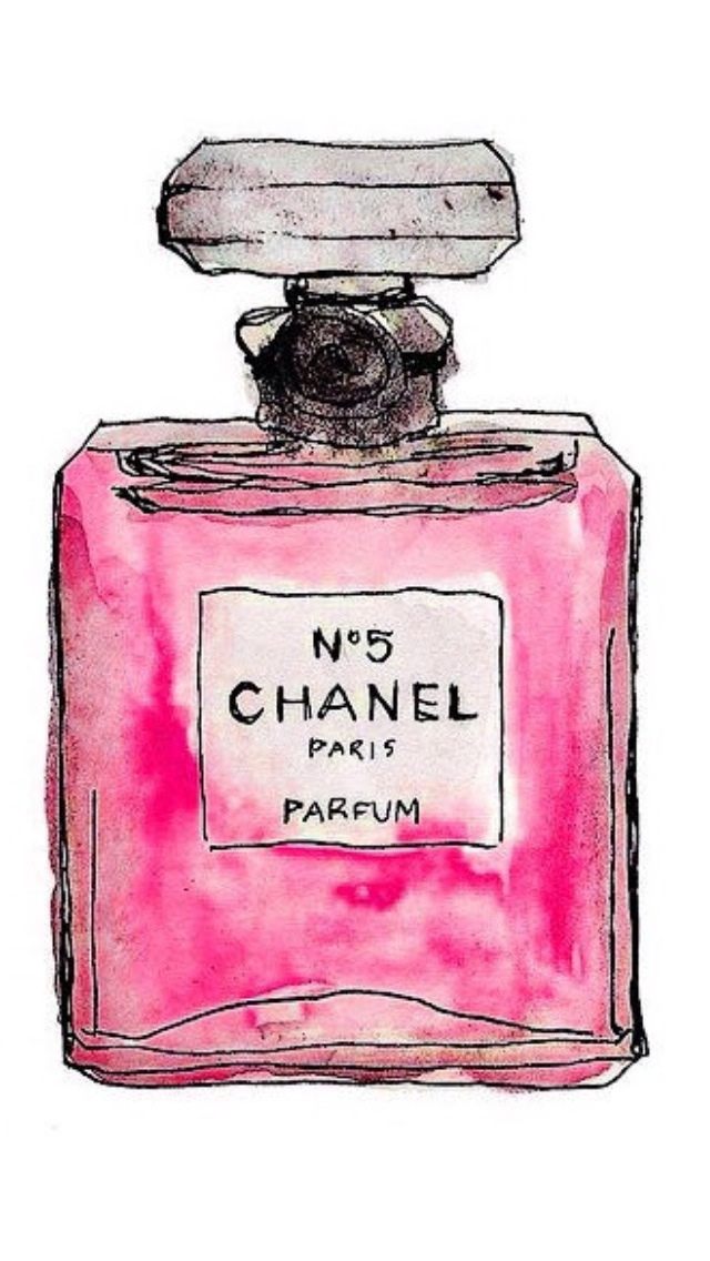 Hand Drawn Chanel No 5 iPhone 6 6 Plus and iPhone 54 Wallpapers 640x1136