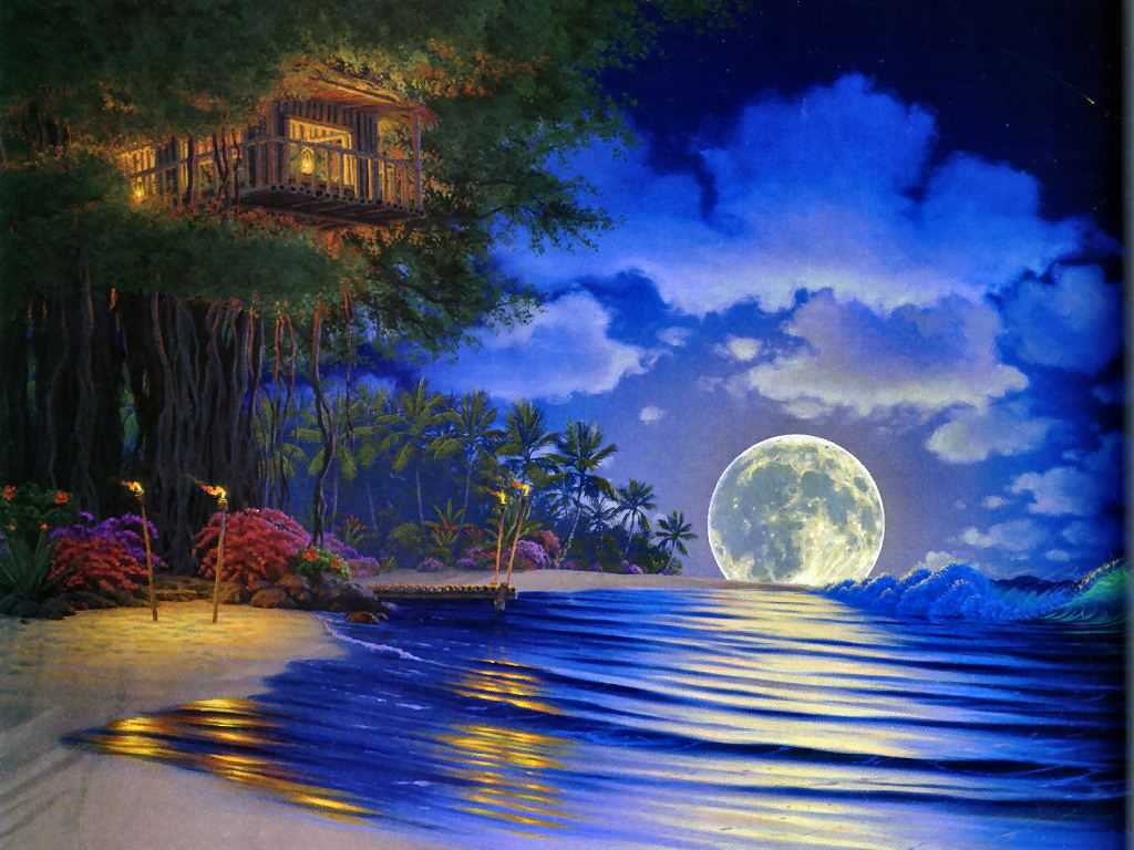 Free Download Fantasy Dream House Wallpaper In The Sunset