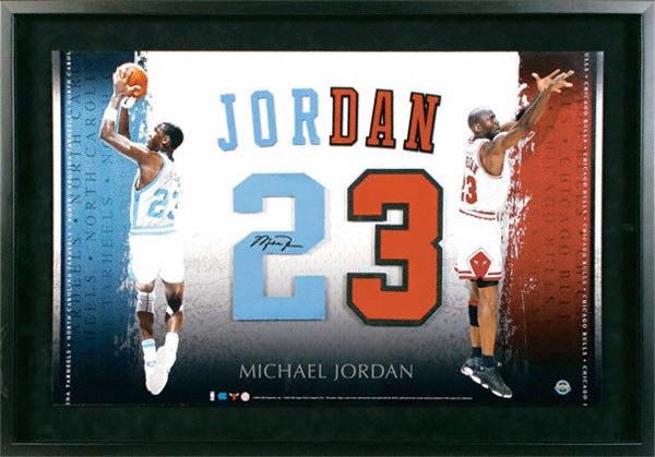 Lot Detail – Michael Jordan Signed Upper Deck North Carolina Jersey