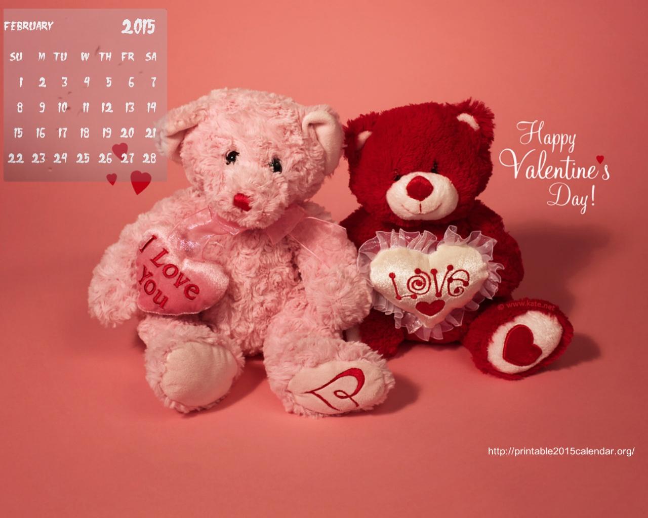 February 2015 Calendar Wallpaper 1280x1024