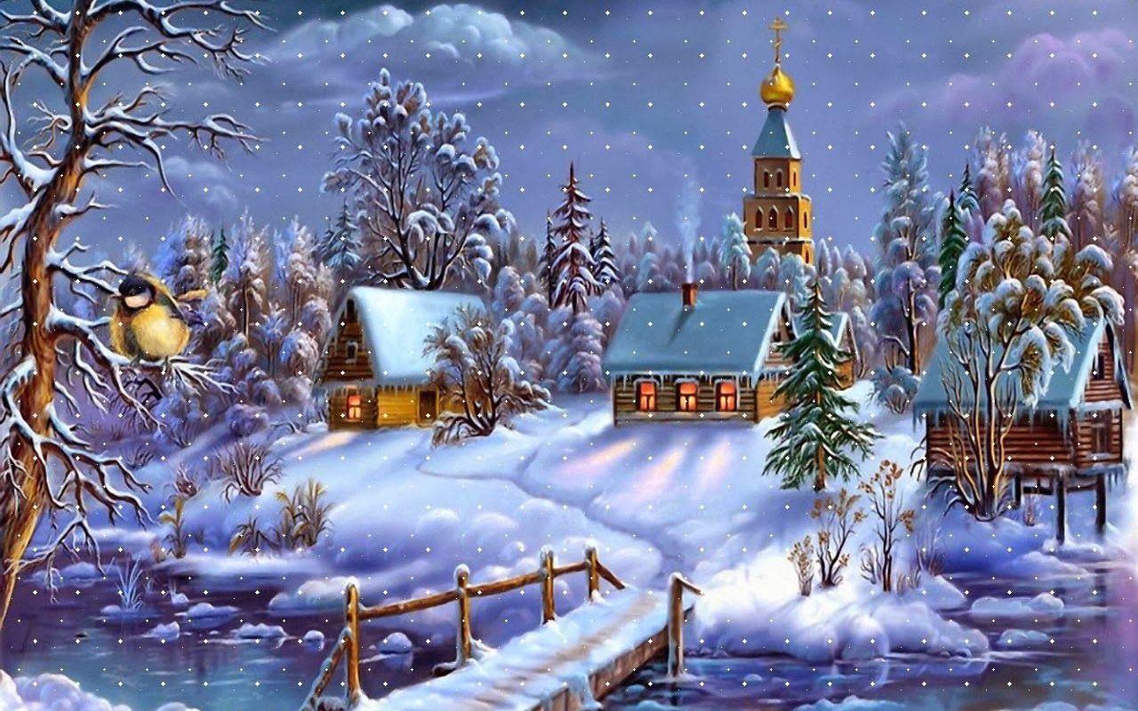 62 Snowy Christmas Wallpaper On Wallpapersafari