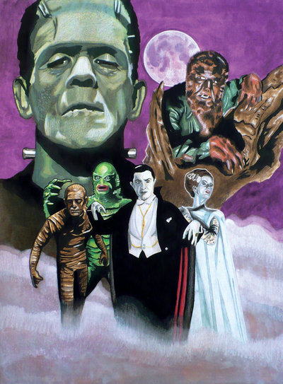 Universal Movie Monsters Wallpaper Universal monsters by bill 400x543