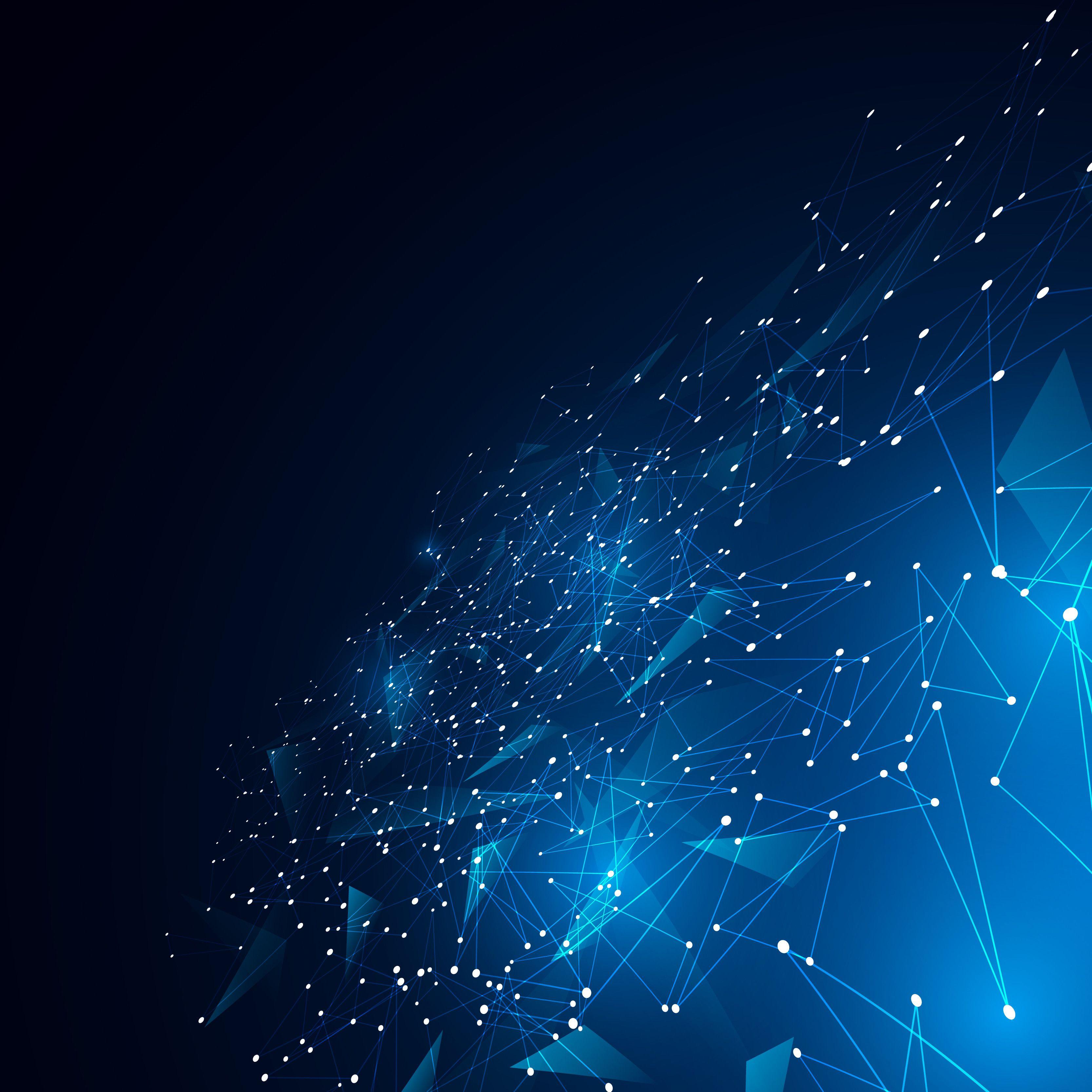Blockchain Vision Blue net Backgrounds downloading 3333x3333
