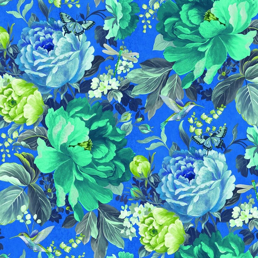 A Shade Wilder Dianthus Floral Wallpaper China Blue 300107 1000x1000