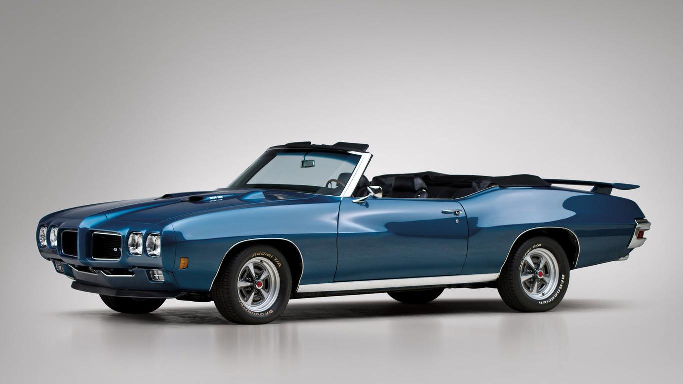 Download 1970 Pontiac GTO wallpaper 1366x768