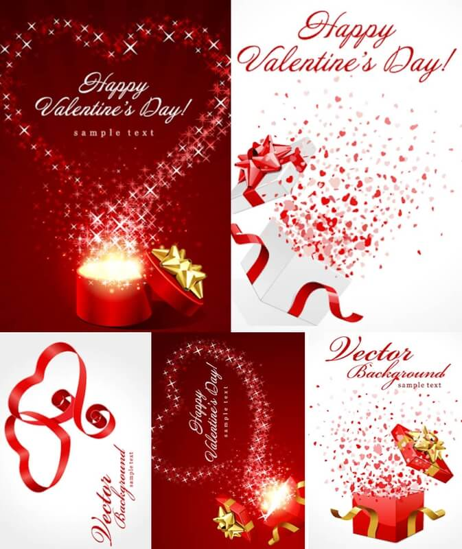 Happy Valentines Day backgrounds vector download 673x800
