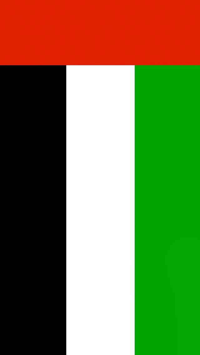 United Arab Emirates Flag iPhone Wallpaper HD 640x1136