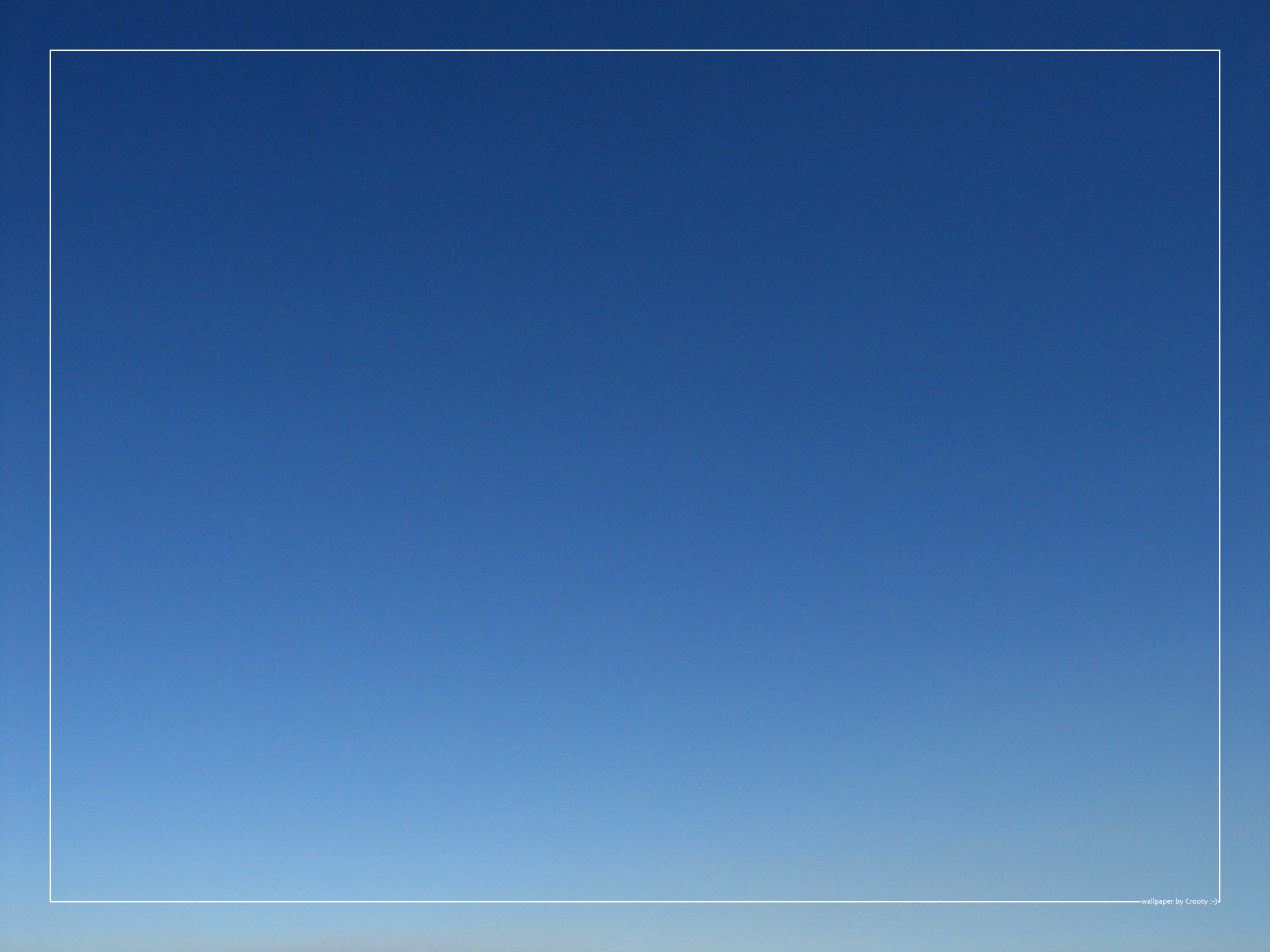 Blue Sky wallpaper by Crooty 2048x1536