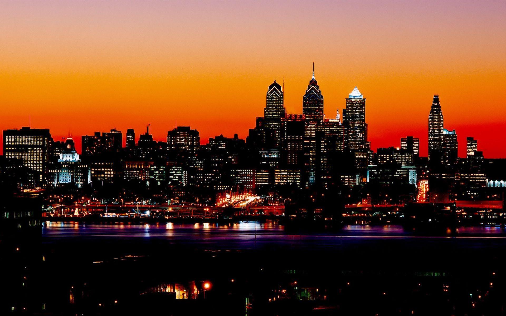 Philadelphia hd wallpapers wallpapersafari - Night light hd wallpaper ...