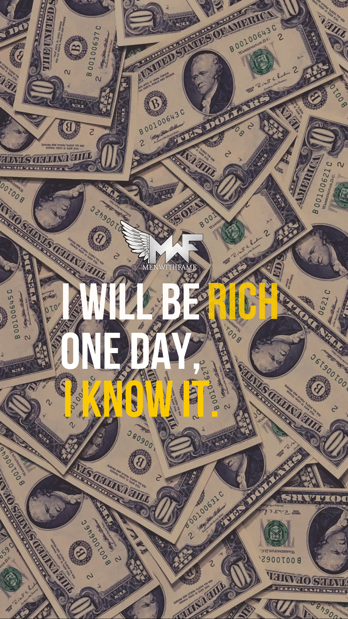 Wallpaper Amazing Dollar Money Quotes Rich people 1125x2001