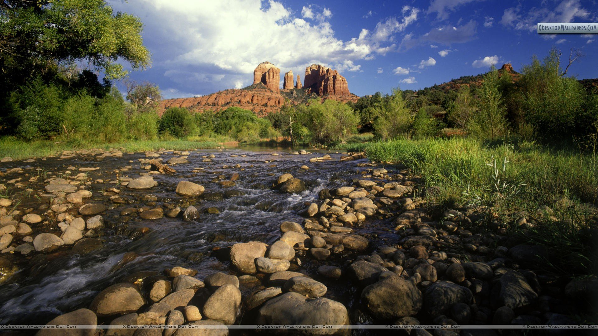 Cathedral Rock and Red Rock Crossing Sedona Arizona Wallpaper 1920x1080