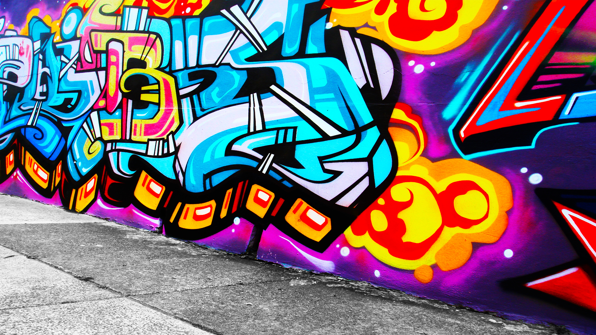 Cool Graffiti   Wallpapers Images Pictures Pics Wallpapers Wall 1920x1080