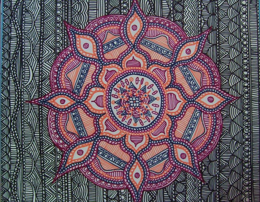 Colorful Mandala Wallpaper Mandala work by dylanmark 900x700