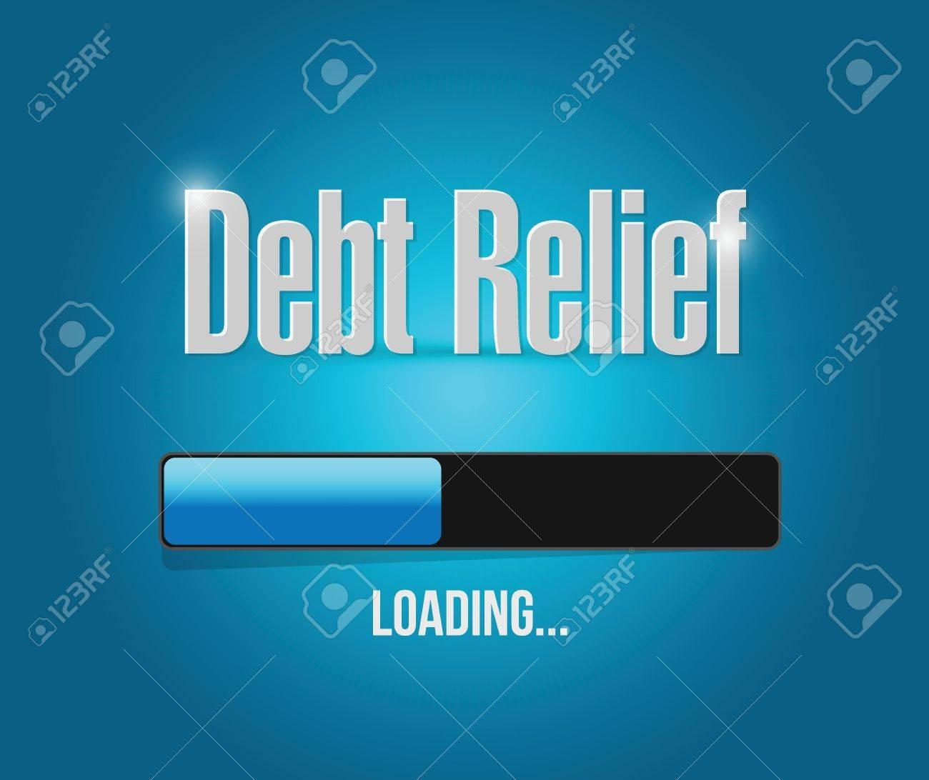 Debt Relief Loading Bar Illustration Design Over A Blue Background 1300x1092