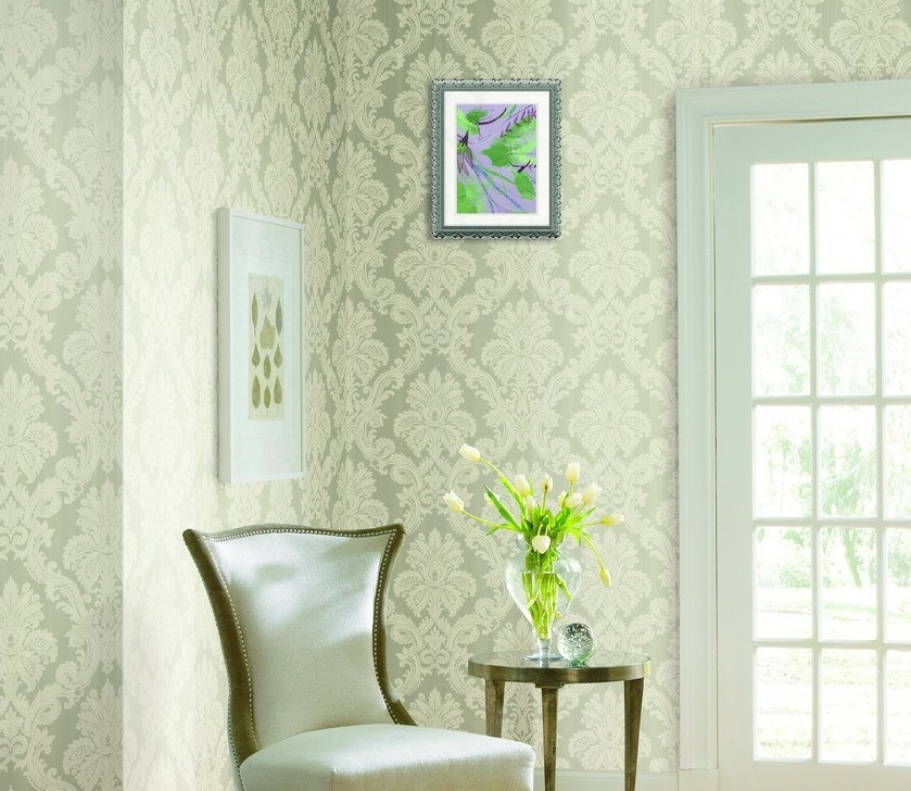 Green wallpaper designs for living room 3D house 3D house 839x728