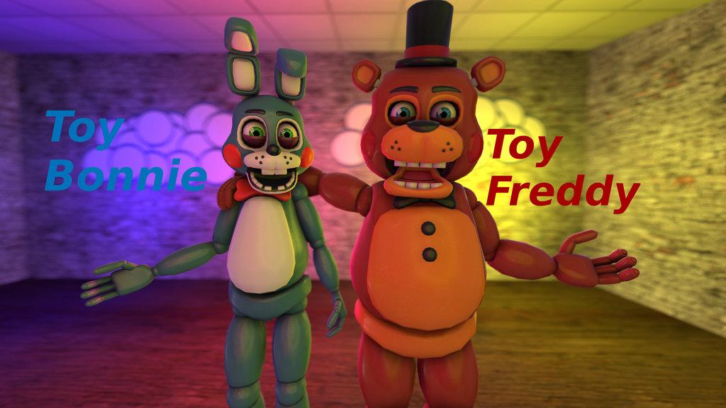 Toy Bonnie And Toy Freddy Wallpaper by Darkythebat 1024x576