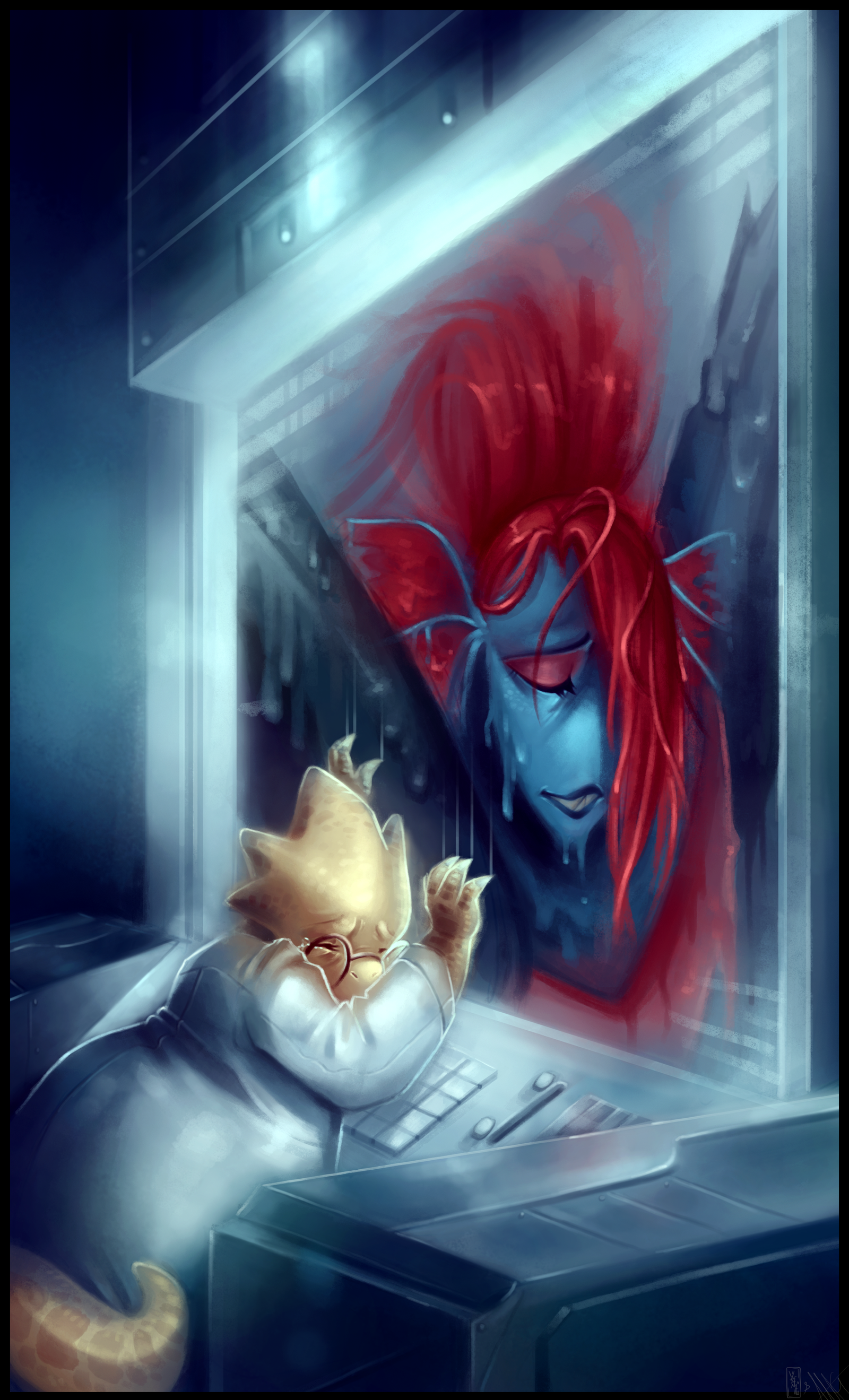Farewell Undyne   Undertale Collab by WalkingMelonsAAA 1600x2639