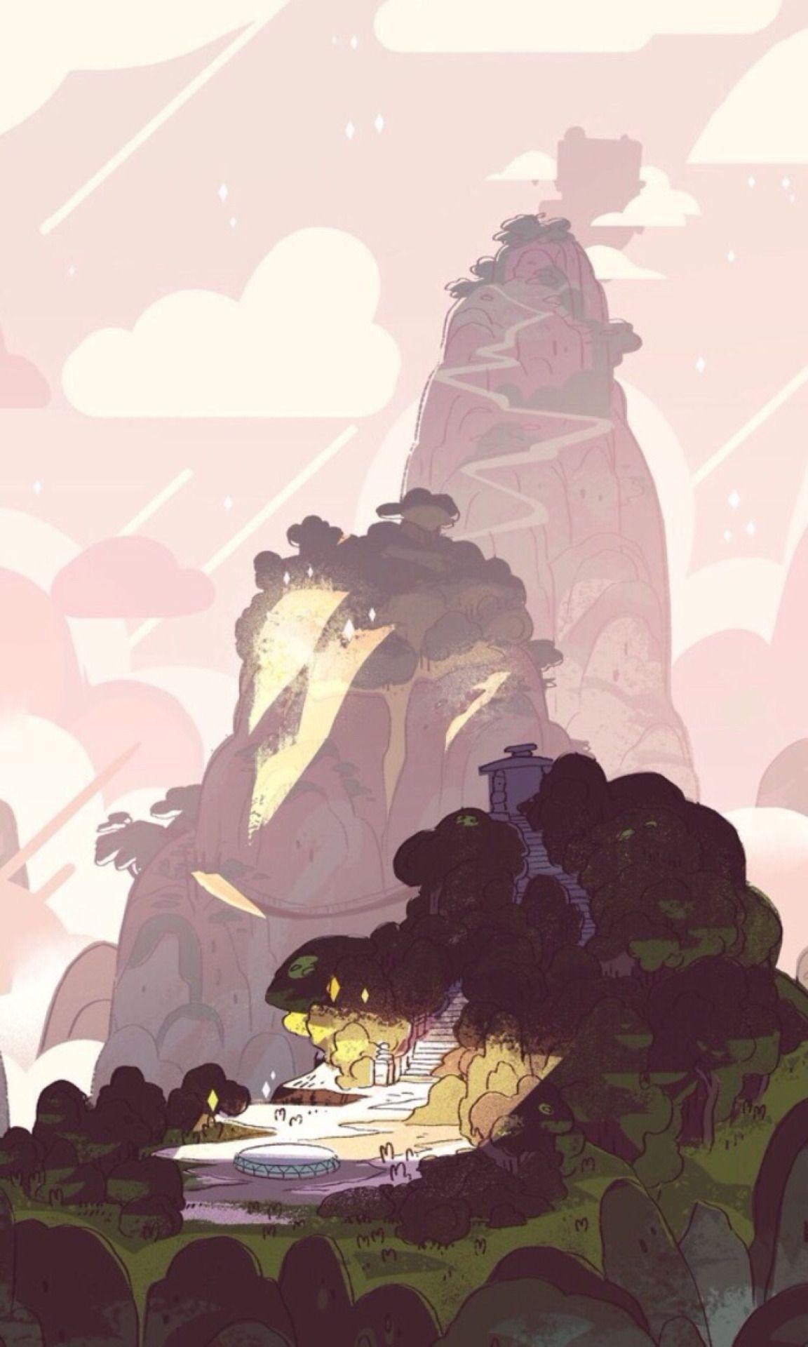 cartoon network pink backgrounds SU aesthetic phone wallpaper 1152x1920