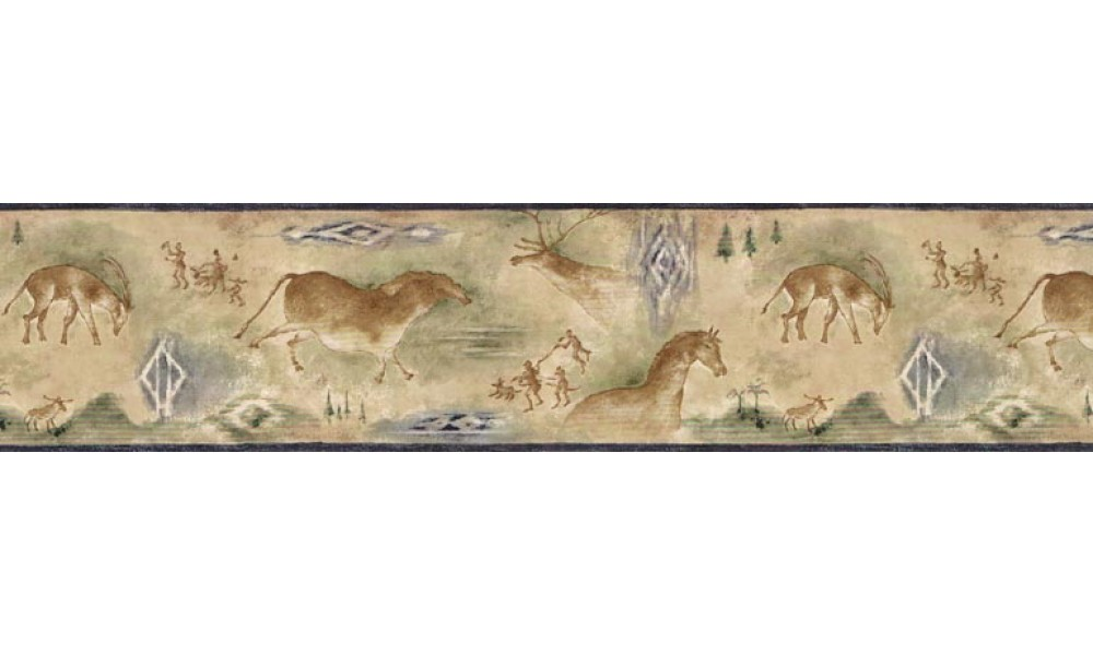 Animal Borders Deer Moose Animals Wallpaper Border B25021 1000x600