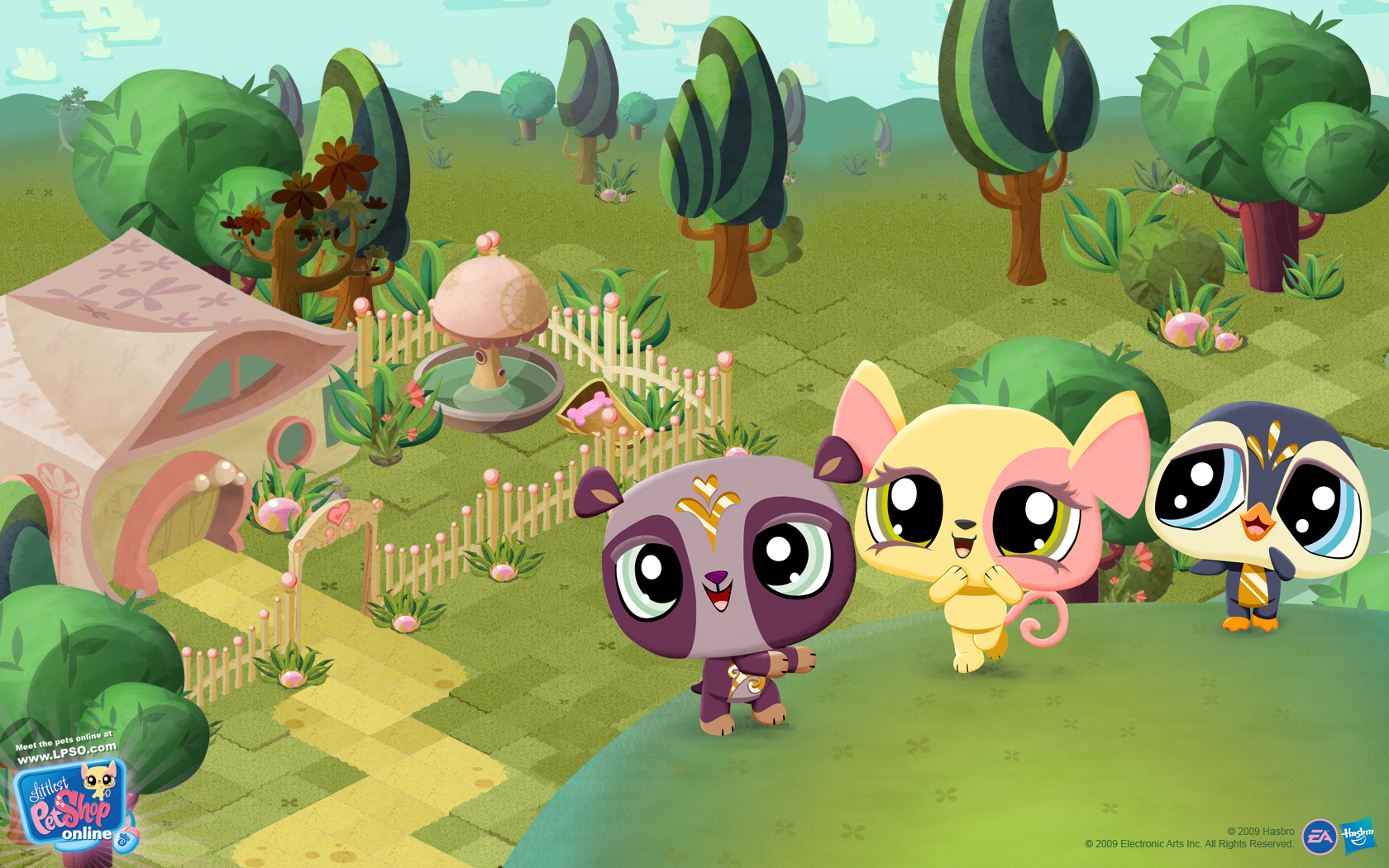 Littlest Pet Shop Online   wallpaper for the game wallpapers 1680x1050