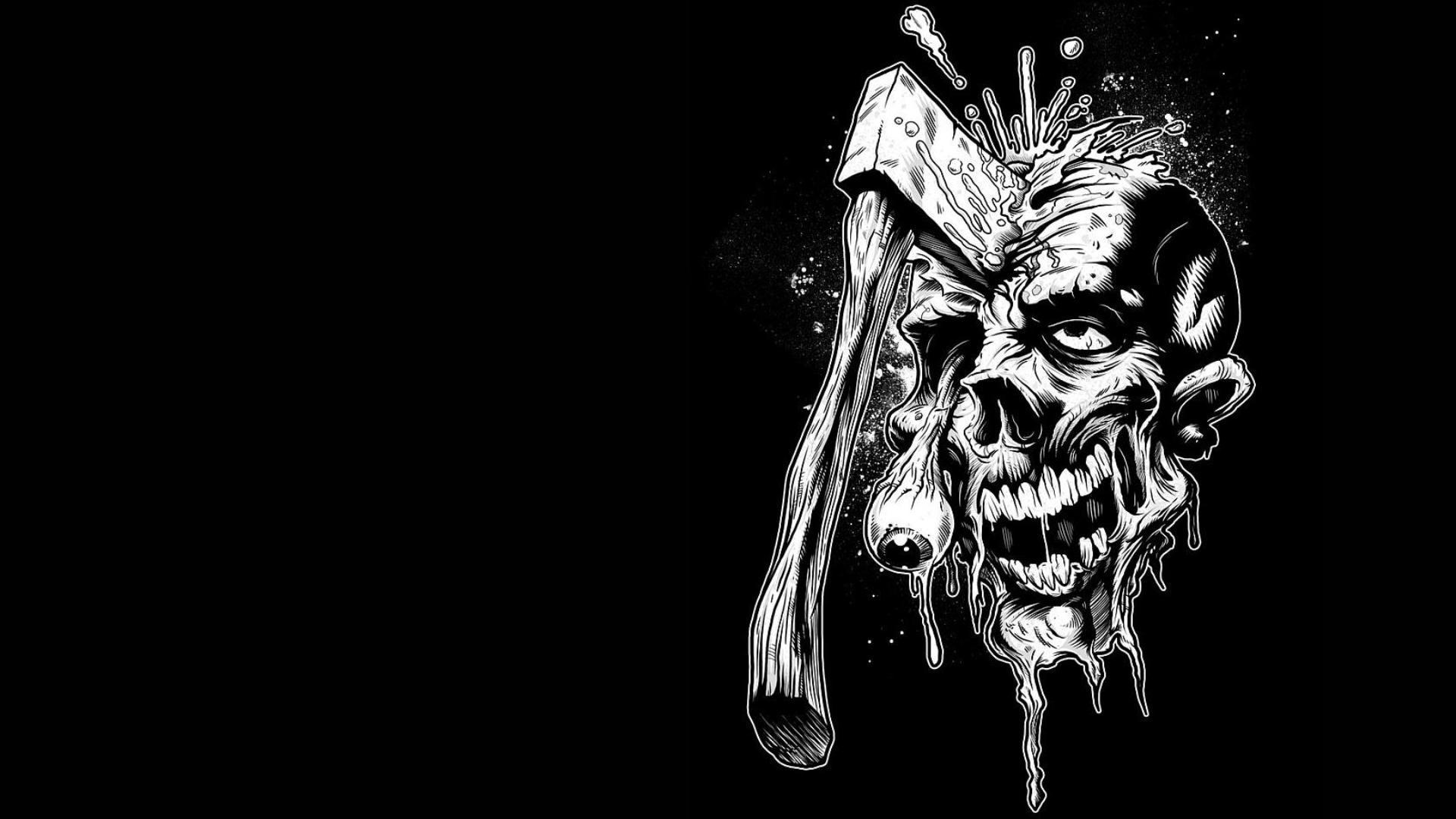 Hd wallpaper zombie - 1920x1080 Zombie Art Ax Eyes Wallpaper Background Full Hd